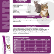 Fiche Prodruit Nutrio Chat